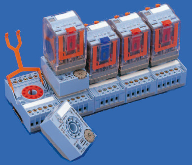 RELECO Relays Series MRC with sockets and time cubes