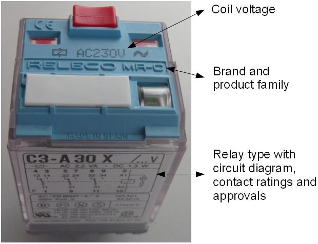 How can I recognize a RELECO or COMAT relay?